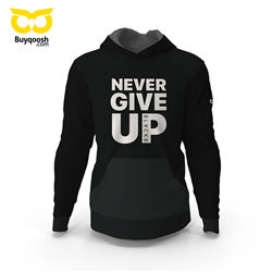 سویشرت مشکی NEVER GIVE UP